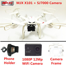 RC Helikopter MJX X101 Quadcopter 6-Axis Gyro Drones SJ7000 WiFi Kamera HD Kamera Ile 2.4 GHZ Drone VS Dron Quadrocopter X8W