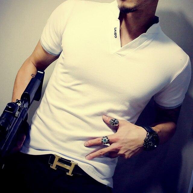 2019 New Arrival Cotton Men Polo Shirt Tops Fashion Brand Plus Size Short Sleeve Black White Polo Shirt Homme Camisa 5XL 2