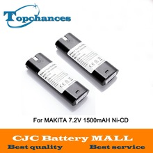 2PCS Power Tool Battery For MAKITA 7033 7002 7000 632003-2 191679-9 192532-2 Cordless Drill tool Battery 7.2V 1500mAh NI-CD