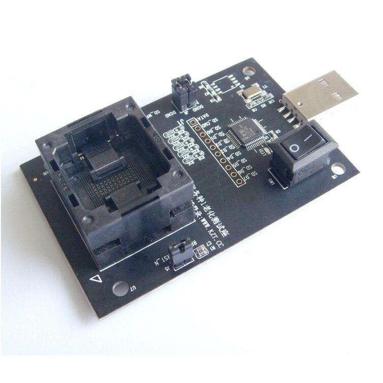 EMMC100 To USB Interface Test Seatscoket BGA100 Test Chip Adapter Pitch 1 0mm 88pin Size 12