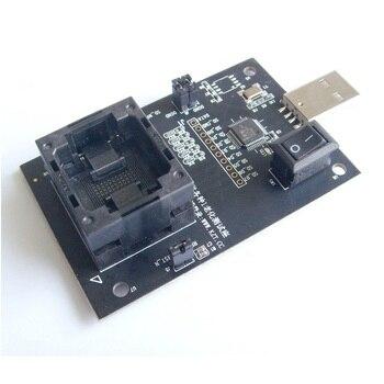 eMMC100 socket USB Tectep BGA100 tester Nand flash Reader programmer eMMC socket eMCP series Adapter eMMC chips data recovery