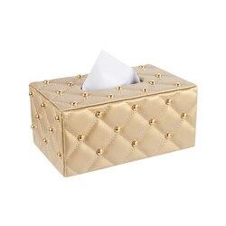 Europejski kreatywny proste tkanki uchwyt skrzynki pluszowy salon papierowy samochód PAPIEROWE PUDEŁKO tkanek pojemnik podajnik ręczników papierowych 6ZJ03