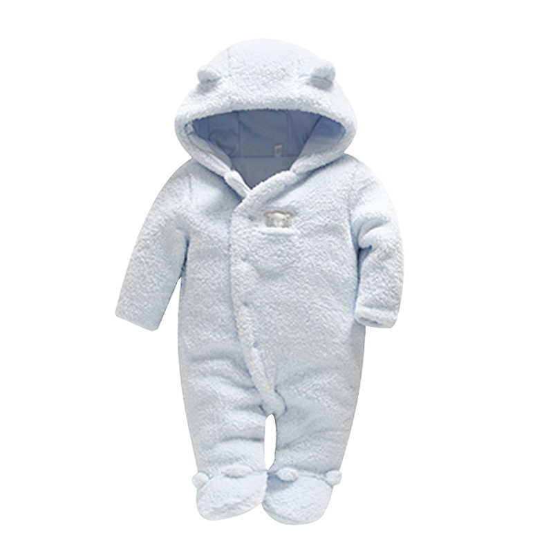 Для новорожденных одежда для малышей Медвежонок и Комбинезоны для девочек с капюшоном Плюшевый комбинезон зимние комбинезоны для детей Одежда для девочек одежда для малышей