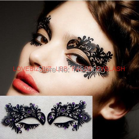 Eye shadow sticker lk005 eye makeup artistic eye mask face for Eye temporary tattoo makeup