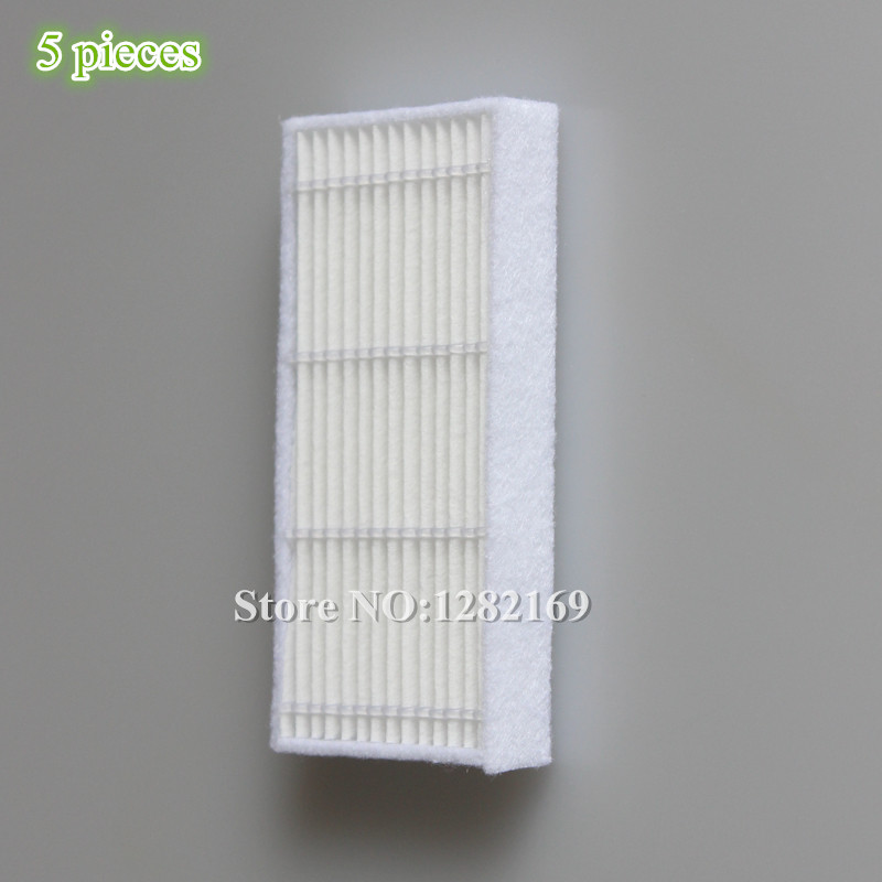 5 pieces/lot robot Vacuum Cleaner Parts HEPA filter for KITFORT KT-516 kt 516 Robotic Vacuum Cleaner Accessory 6v 2000mah rechargeable battery for karcher robotic rc3000 2 891 029 0 vacuum robot robotic cleaner accessories parts