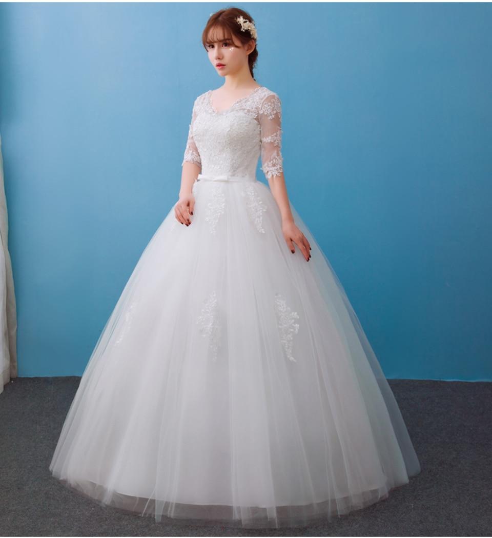 Velnosa Real Photo New Arrival Elegant Half Lace Sleeve Wedding ...
