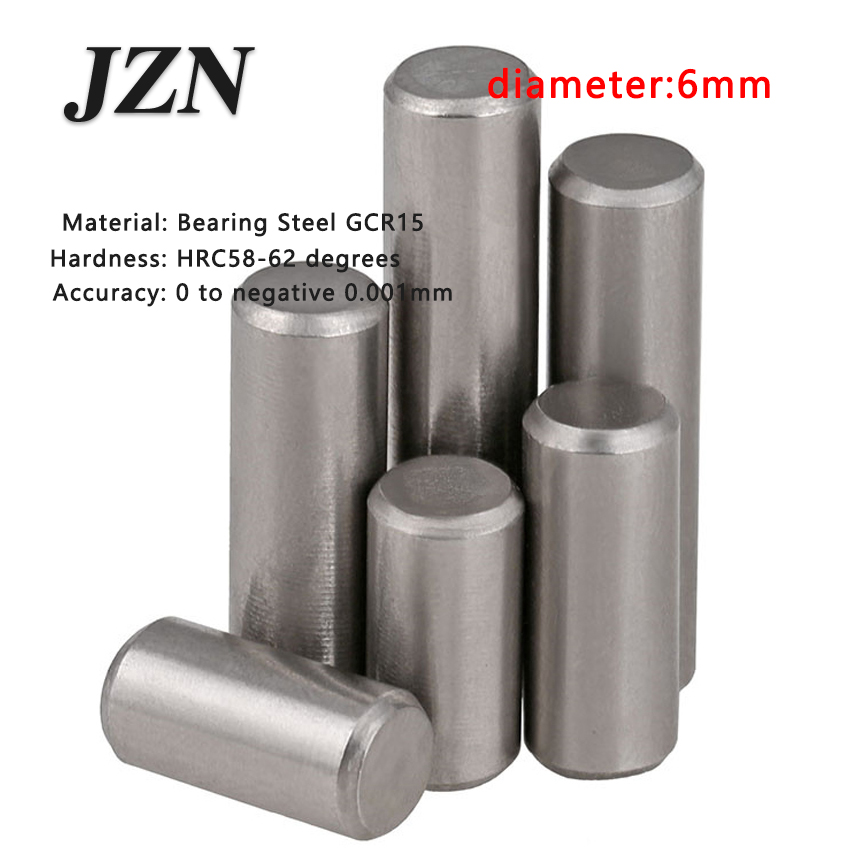 50pcs/lot Dia 6*6 <font><b>8</b></font> 9 10 <font><b>12</b></font> 14 15 16 18 20 22 24 25 <font><b>28</b></font> 30 34 Bearing Steel Cylindrical Pins - Dowel Pins-Needle-Positioning pin image