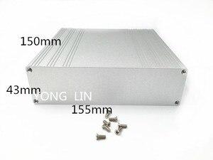 1 шт. алюминиевый бок155*43-150 мм PCB корпус/экранированный корпус/корпус роутера/веб-сервер алюминиевый корпус