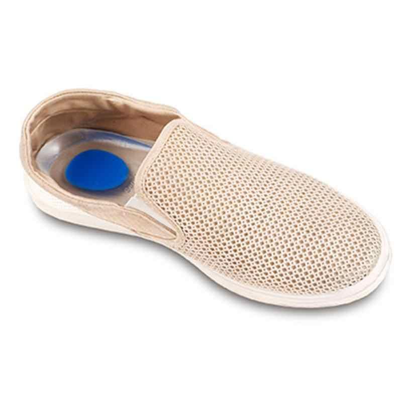 1 çift Erkek Kadın Silikon Jel topuk yastığı tabanlık tabanı ayak rahatlatmak ağrı koruyucular Spur Destek ayakkabı pedi Yüksek Topuk Ekler