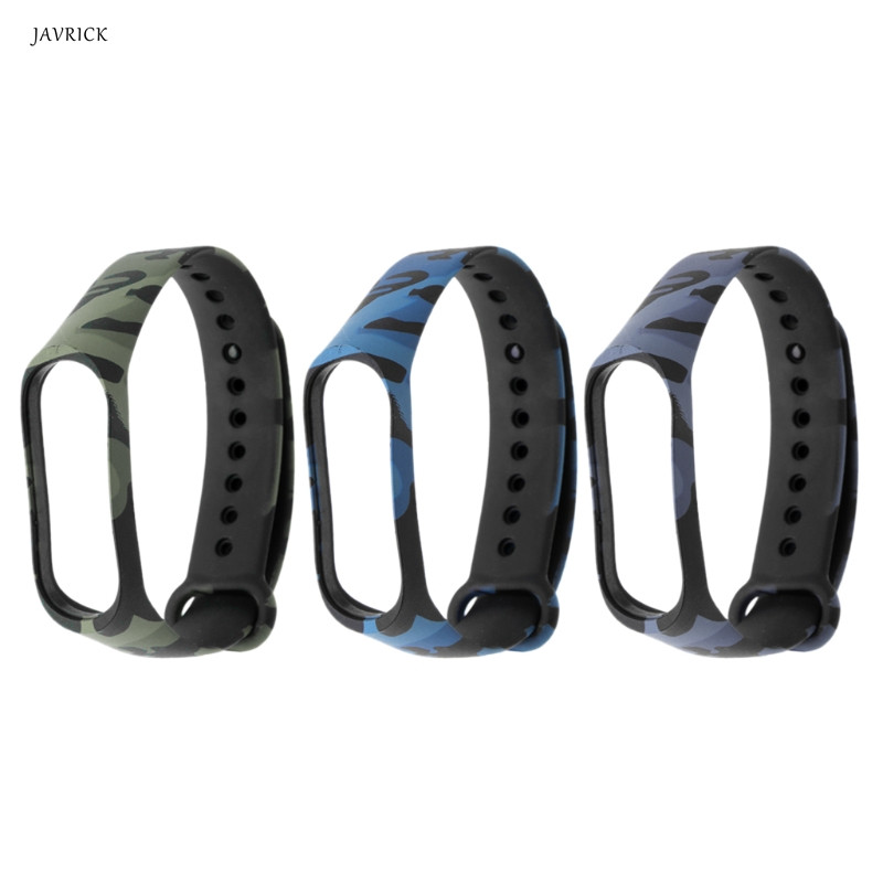 все цены на 2018 High Quality Camouflage Silicon Wrist Strap Replacement WristBand Bracelet For Xiaomi MI Band 3 Watchbands