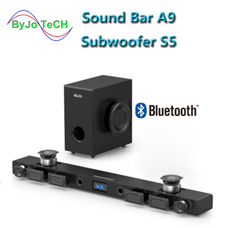 JY AUDIO A9 Bluetooth Soundbr 5.1 suono surround home theater 8 altoparlante integrato home theater speaker TV Con 8 pollici subwoofer