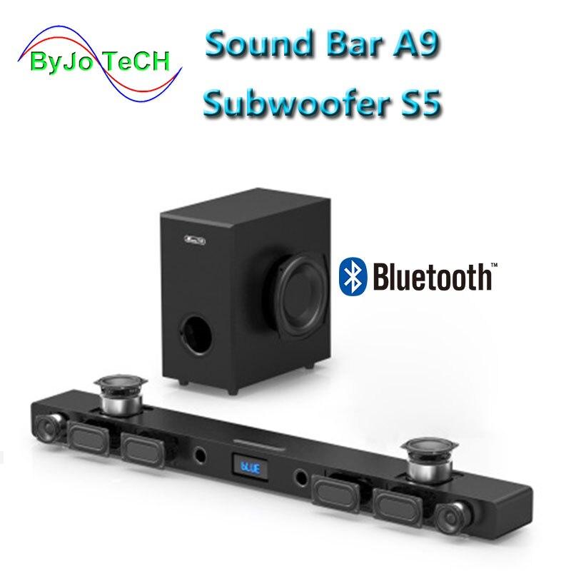 JY AUDIO A9 Bluetooth Soundbr 5.1 surround sound home théâtre 8 haut-parleur intégré home cinéma TV haut-parleur Avec 8 pouces subwoofer