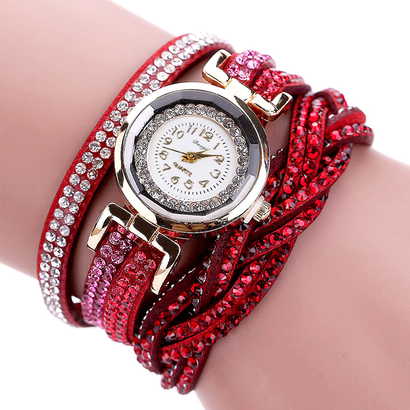 TIke Toker, Mode Luxe Strass Armband Dameshorloge, Dames Quartz - Herenhorloges - Foto 3