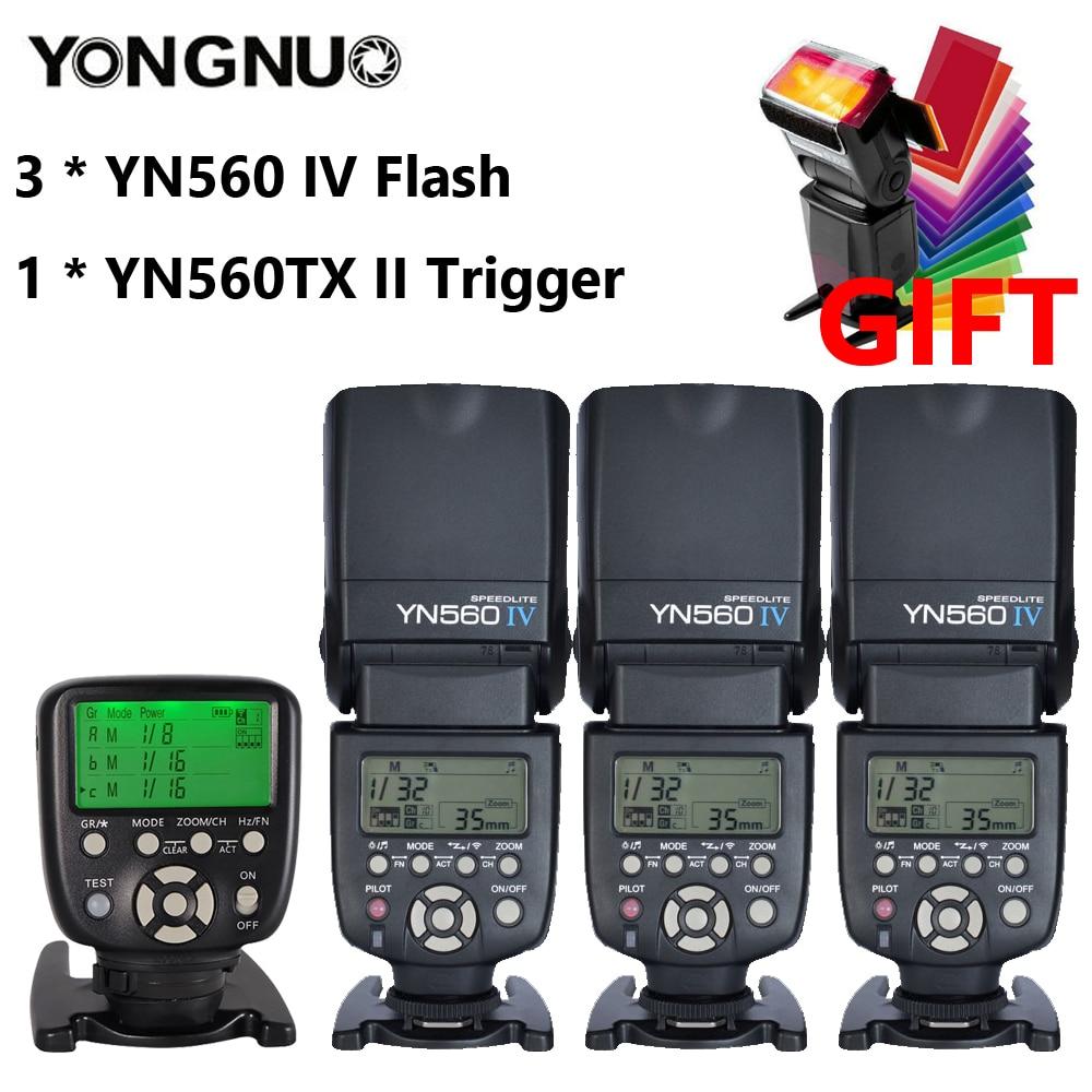 YONGNUO YN560 IV 2.4G Flash sans fil Speedlite avec Mode Radio Master pour Canon 6D 7D 60D 70D 5D2 5D3 700D 650D, YN-560 IV 560IV