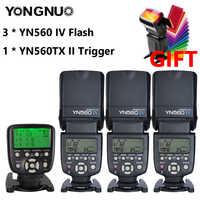 YONGNUO YN560 IV 2,4G inalámbrico Flash Speedlite con Radio modo maestro para Canon 6D 7D 60D 70D 5D2 5D3 700D 650D... YN-560 IV 560IV