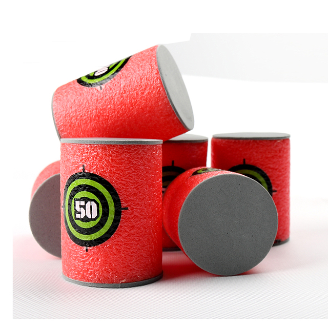 6 Pcs Bullet Targets Shot Dart Target for Series Blasters Darts Toy Gun Soft Bullet Acc 023
