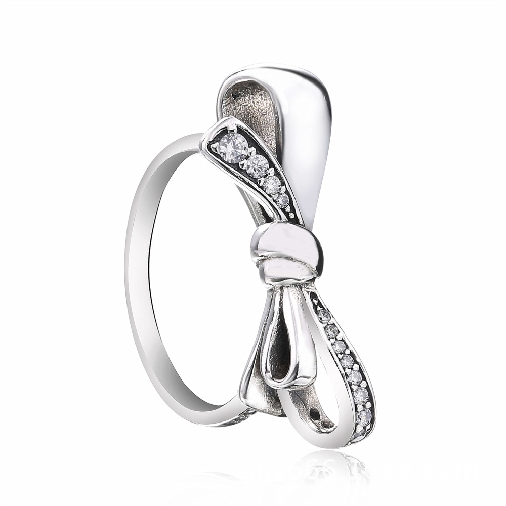 ZTUNNG PDS3R 925 Sterling Silver Finger Trendy Bowknot 4 Size Wedding Rings for Women Engagement Jewelry недорого