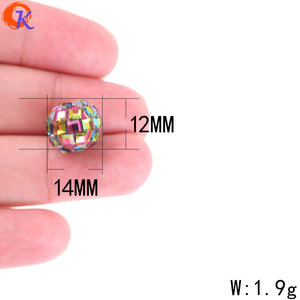 Image 3 - Cordial Design 100Pcs 12*14MM Jewelry Accessories/Crystal Bead/Polymer Clay Bead/Chunky Bead/DIY Bead/Hand Made/Earring Findings