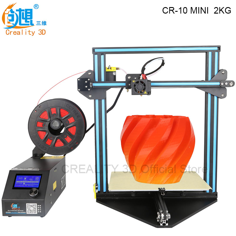 New 3D Printer CREALITY 3D CR-10 MINI Large Print Size 300*220*300mm 3D Printer DIY Kit Auto Resume Print after Power Interrupt the resume kit