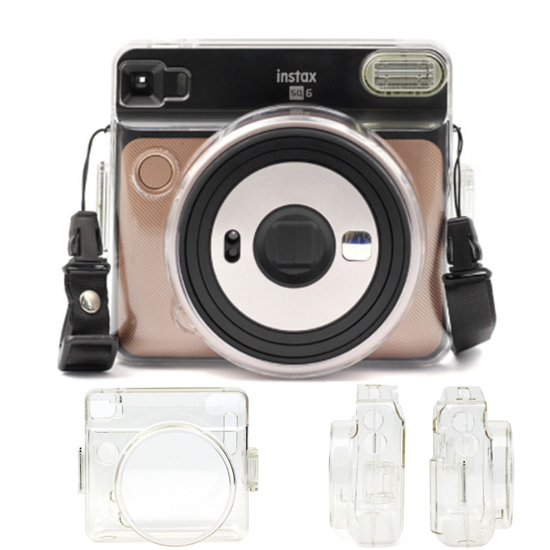 Transparent Crystal Camera Bag For FUJIFILM Instax SQUARE SQ6 Cas Cover Protective Shell Case Crystal Plastic instant Case Bag image
