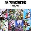 The Legend of Zelda Cartazes Incluído 8 Imagens Diferentes 8 pçs/lote Anime Cartaz Tamanho: 42 cm x 29 CM