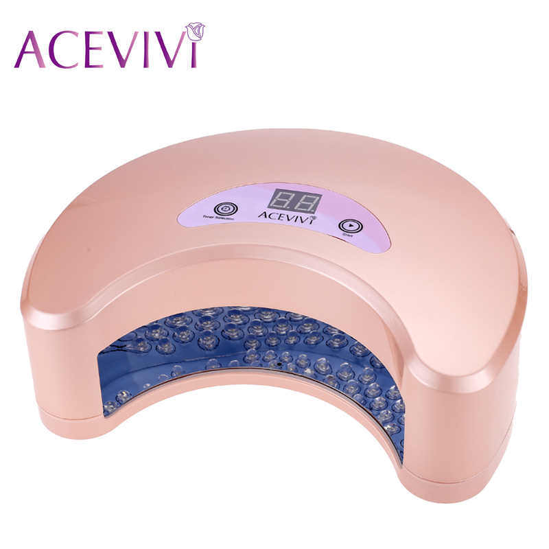 ACEVIVI New Professional Nail Art 18W LED Manicure Light Lamp Curing Gel Nail Polish Dryer Lamp Light EU Plug acevivi professional 12w led nail dryer uv lamp nail manicure machine fast drying polish curing nail gel art tools us plug u2