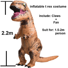 T rex Suit Adult Halloween Cosplay Party Inflatable Jurassic World Dinosaur Costume Purim Inflatable Costume