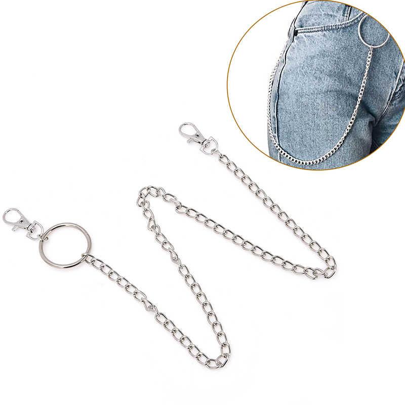 1 katmanlı/2 Katmanlı/3 Katmanlı Kaya Punk Kanca Pantolon Pantolon Bel Bağlantı Kemer Zinciri Metal Cüzdan Gümüş zincir Moda Erkekler Takı sıcak!