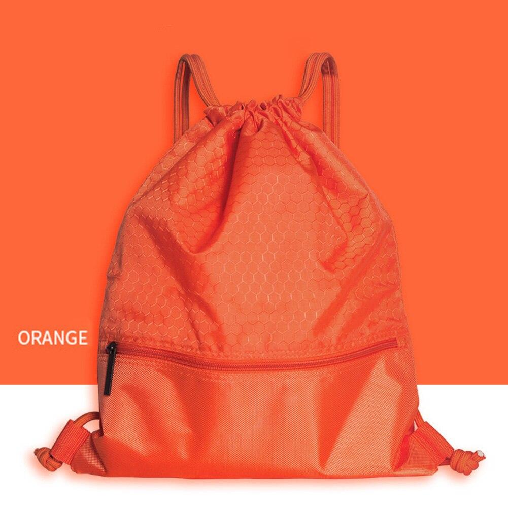 50*42cm Beam Bag Folding Home Travel Drawstring Sport Swimming Backpack Wear-resistant Waterproof Storage With Zipper Pocket