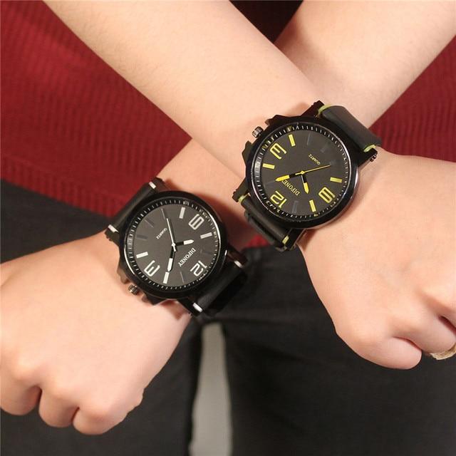 Fashion Casual Mens Watches Top Brand Sports Quartz Watch Men Rubber Band Wristwatches Male Clock Relogio Masculino