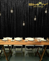 Shinybeauty 240 245cm Black Sequin Backdrop 8x8ft Sparkly Bling Photo Backdrop For Videos Party Wedding Pictures