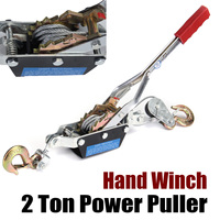 Hand Winch Puller 2 Tons Off Road 4X4 4WD UTE Truck Power Tool Hoist Trailer for Boat ATV Jet Ski Trailer w/Hook Heavy