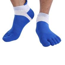 6pairs Men Cotton Five Finger Socks Low Cut Sporting Mesh Toe Socks 6 Colors Finger Socks Men Sporting Breathable Ankle Sock