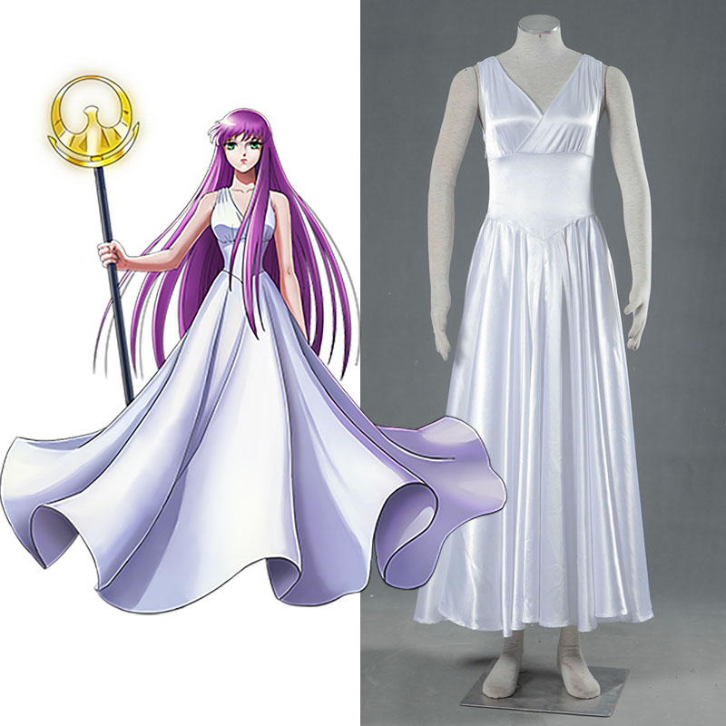 US $82 72 6% OFF|Saint Seiya Legend of Sanctuary Cosplay CostumeThe Lost  Canvas Sasha Athena Cosplay Dress Queen Clothing High Quality on
