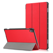 цена на for Huawei MediaPad M6 8.4 Case Tri-Fold PU Leather Folding Flip Stand Tablet Case with Sleep Function Cover for MediaPad M6 8.4