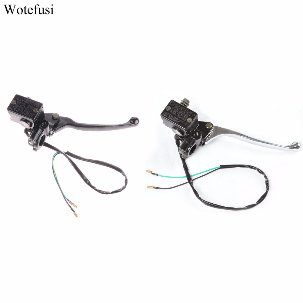 Wotefusi For Brake Handle Scooter Moped ATV Dirt Bike Right Front Brake Master Cylinder Gy6 [PX29] scooter drum brake lever handle electric scooter biker fit most moped motorcycle level brake