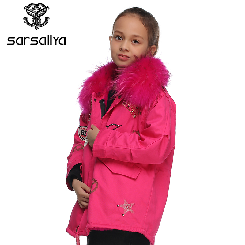 497167ea3 SARSALLYA real fur jacket for girl jackets for girls boy winter coat ...
