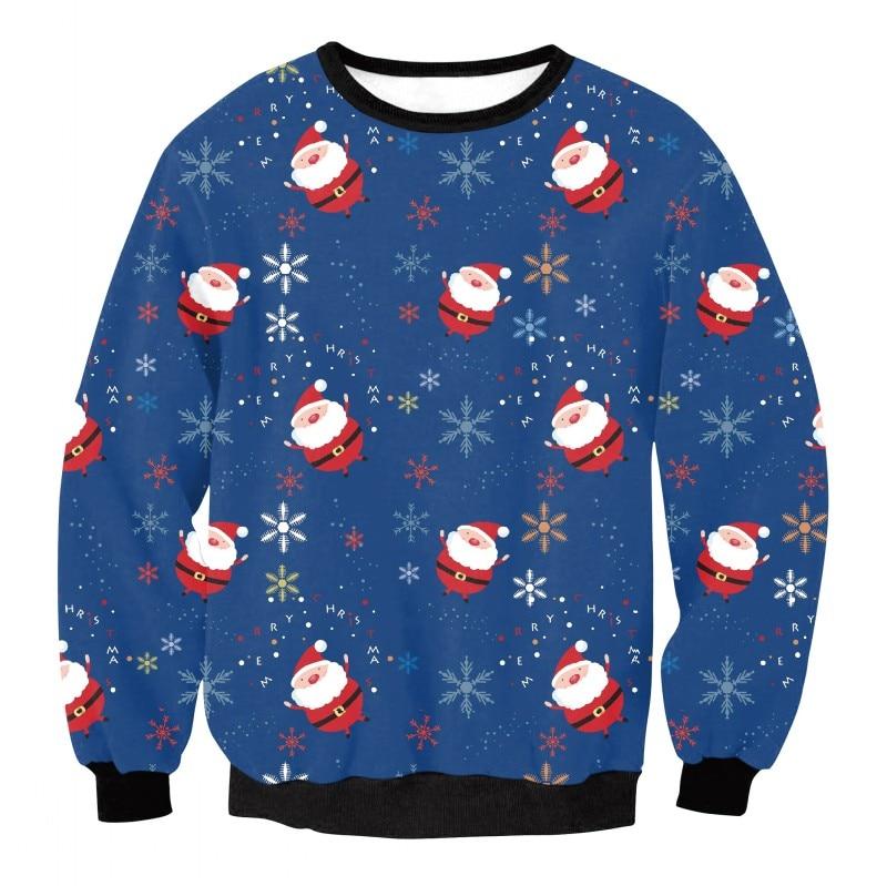 Newest Merry Christmas sweatshirts Unisex Couple Cute tracksuit 3D Santa Print Christmas Pullover Sweatshirt Outwear Gift