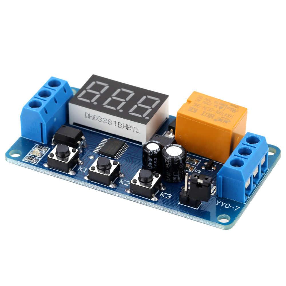 Светодиодный таймер с автоматическим цифровым таймером задержки управления релейным модулем rele 3 V/3,7 V/4,5 V/5 V/6 V