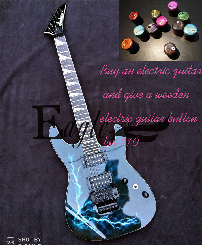 Eagle. Butterfly Guitar Bass Custom Shop Lightning Pattern Electric Guitar Customization,in Stock