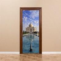 Classic Building India Taj Mahal Wall Poster Decal Door DIY Sticker Decoration