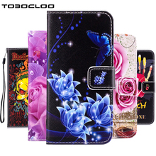 TOBOCLOO Flip Wallet Phone Case For Samsung Galaxy S3 S4 S5 Mini S6 S7 edge S8 PLUS Cover Lady Classic Leather +TPU Stand Cases