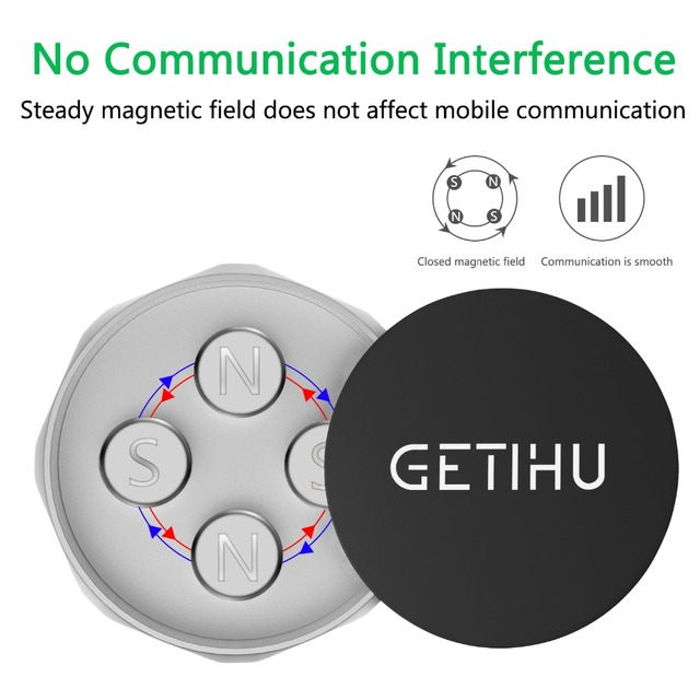 GETIHU Car Phone Holder Magnetic Air Vent Mount Mobile Smartphone Stand Magnet Support Cell in Car GPS For iPhone XS Max Samsung 2