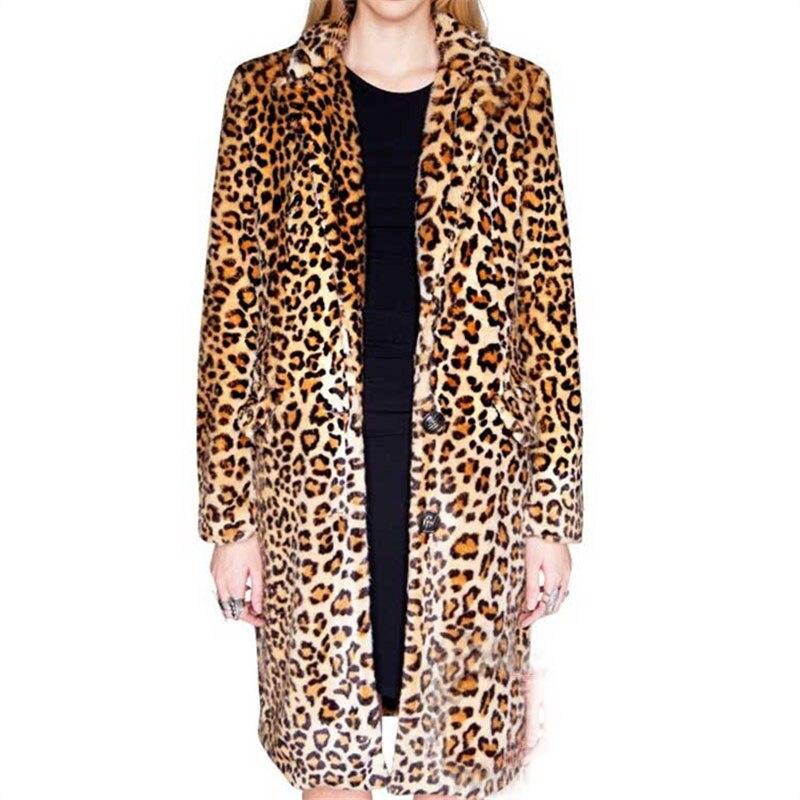 Neuf Hiver Épaississement Automne Qualité Femme Fourrure Faux Veste De Haute Long Chaleur Vison Leopard Manteau 2018 En Vente Cuir Léopard Chaude IqgwxIA
