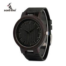 BOBO ptak WC27 męska projekt marki luksusowe drewniane zegarki bambusowe z prawdziwej skóry kwarcowy zegarek w szkatułce zaakceptować OEM dostosować