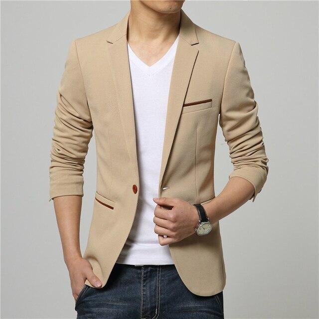 Plus Size 5XL 2016 Hot Sale Korean Style Khaki Linen Suit Blazer Men Suit Jacket Leisure Slim Fit Blazer Cheap Suits for Men