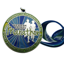 Top Quality Western Sydney Marathon Medal with Heat Transfer Printing Lanyard  k 200142 lole топ lsw0920 marathon top xs white