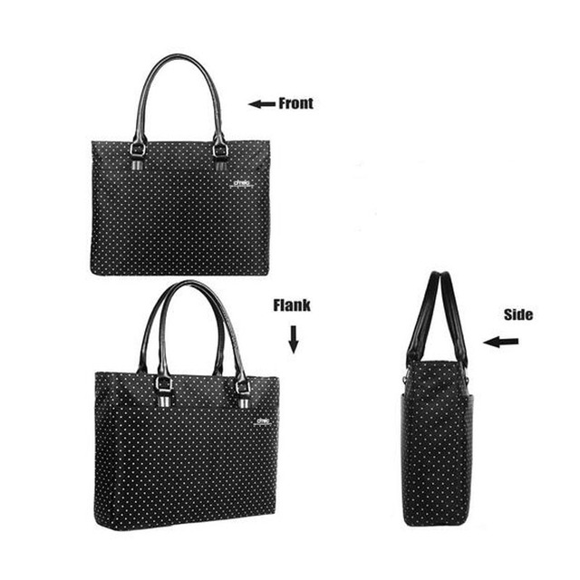 DTBG fashion women laptop tote bags shockproof handbag business briefcase computer horizontal bag 15.6 Inch water resistant