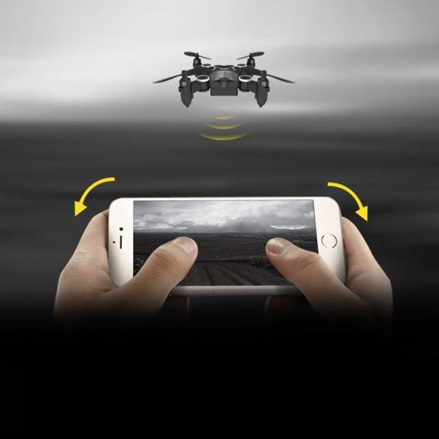 M1HS Plegable Mini 2.4G 4CH 6 Axis RC Quadcopter Drone Con 0.3MP Cámara WIFI Negro Blanco Mini Drone Headless RC helicóptero