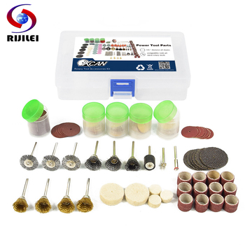 RIJILEI 183PCS BIT SET SUIT MINI DRILL ROTARY TOOL FIT DREMEL Grinding,Carving,Polishing tool sets,grinder head,Sanding Disc rijilei 136pcs dremel rotary tool accessory attachment set kits grinding sanding polishing sander abrasive for grinder